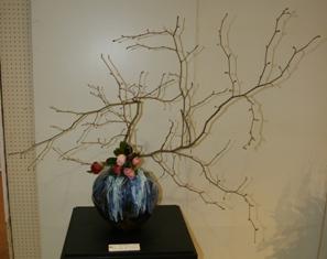 萩焼と生け花展 展示作品